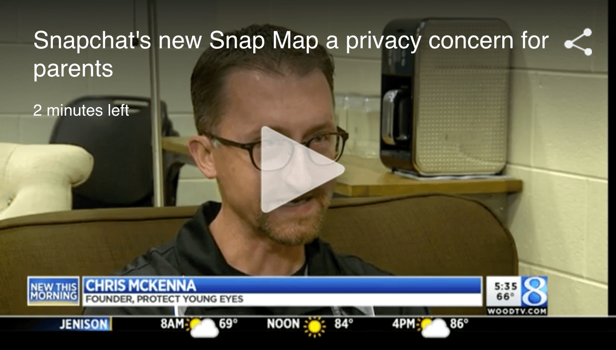 Snapchat's new Snap Map a safety concern for parents