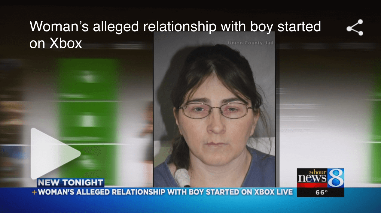 Woman's alleged relationship with boy started on Xbox