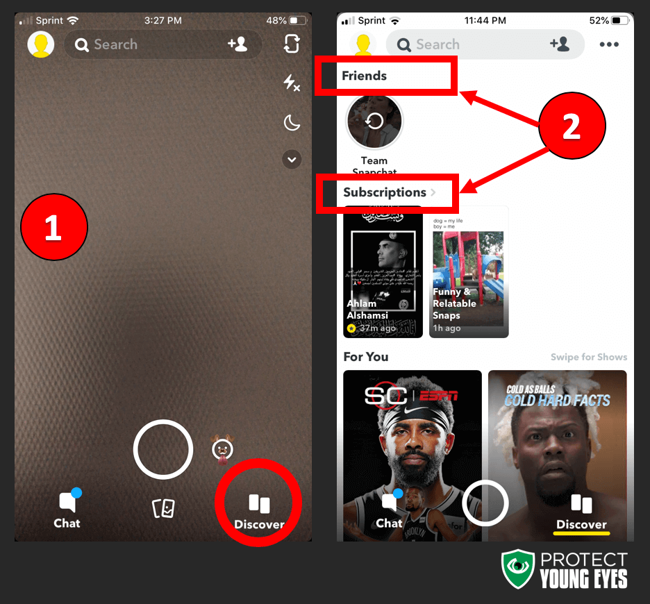 Where are Snapchat Stories?