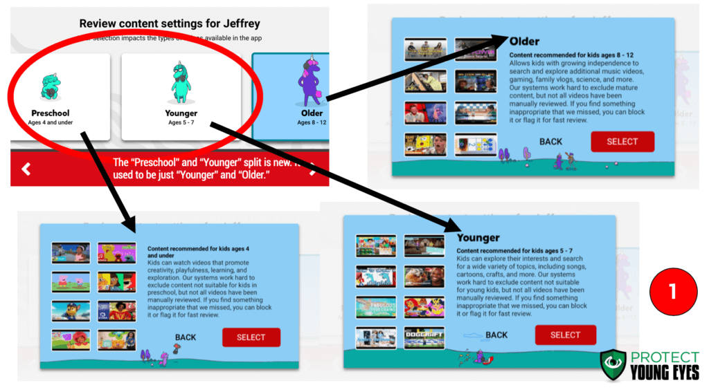 YouTube Kids Parental Controls 1 - PYE
