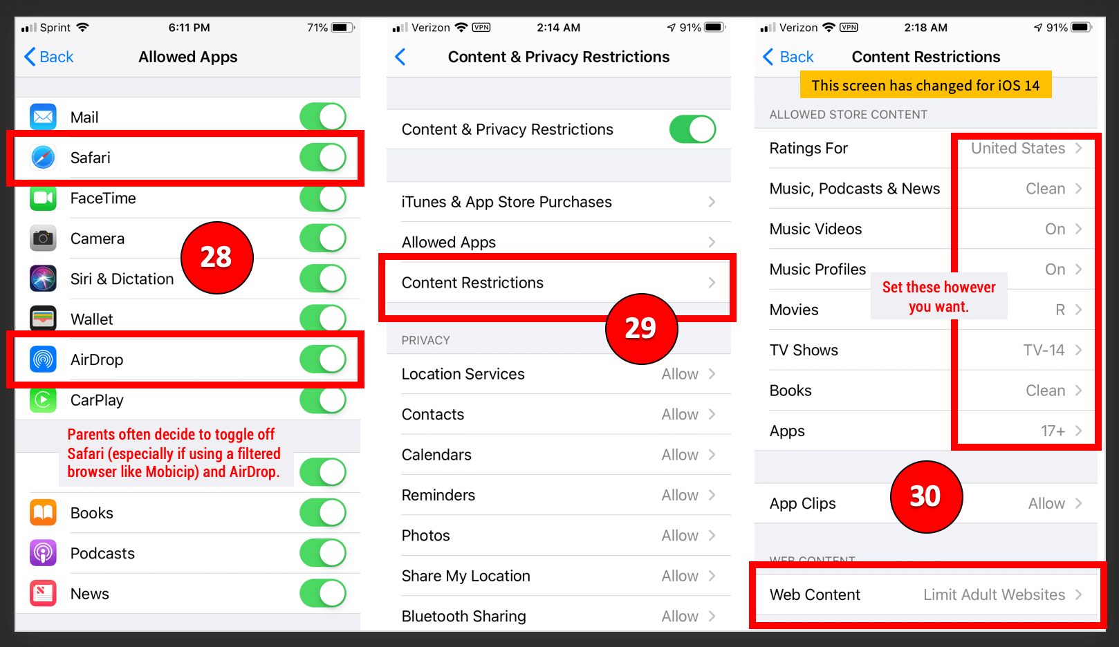 iOS 14 Parental Controls (10.18.20)