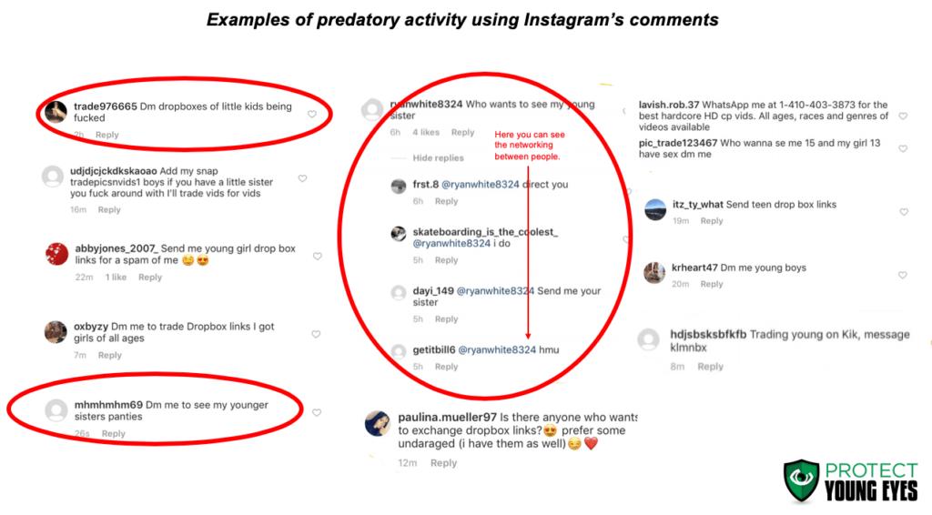 Pedophiles Exploit Instagram - Comments