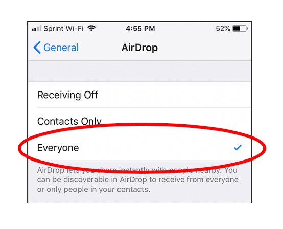 AirDrop Cyber flashing iPhone - PYE