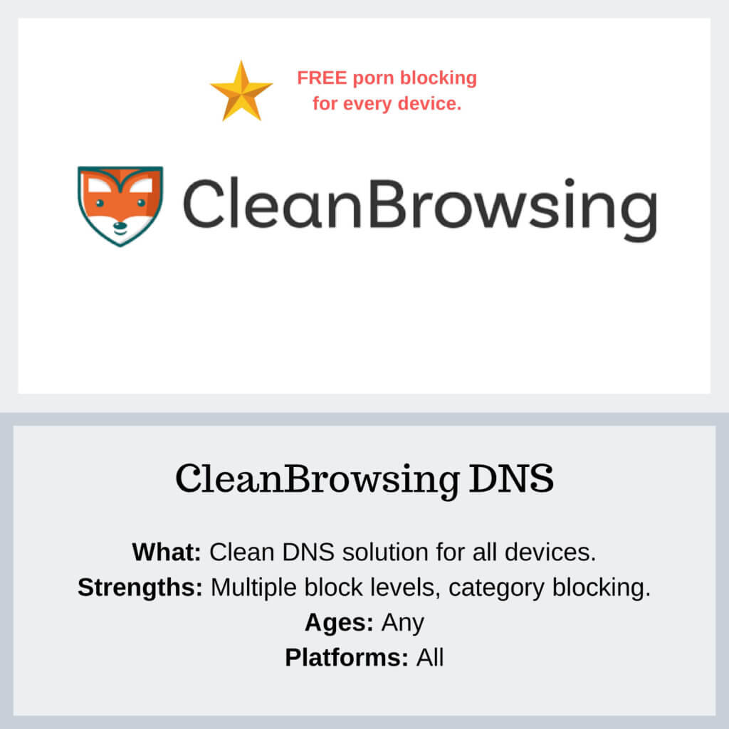CleanBrowsing DNS - Protect Young Eyes