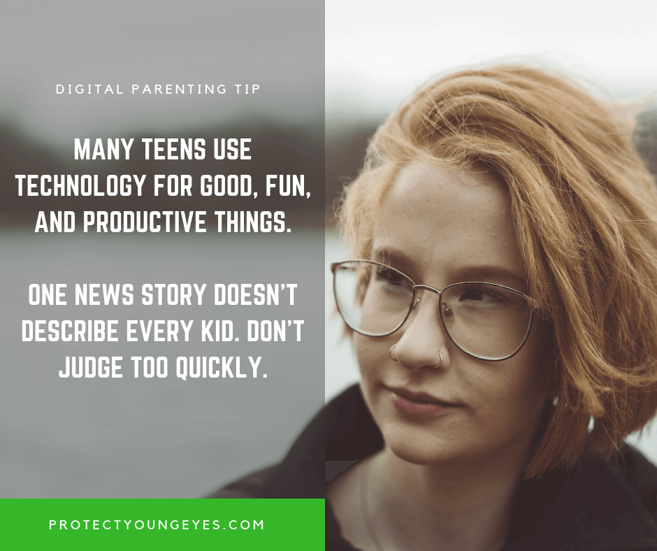 Good Kids and Technology - Protect Young Eyes