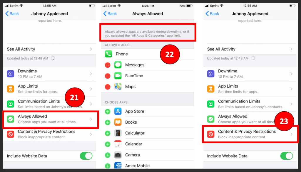 iOS 13 Parental Controls