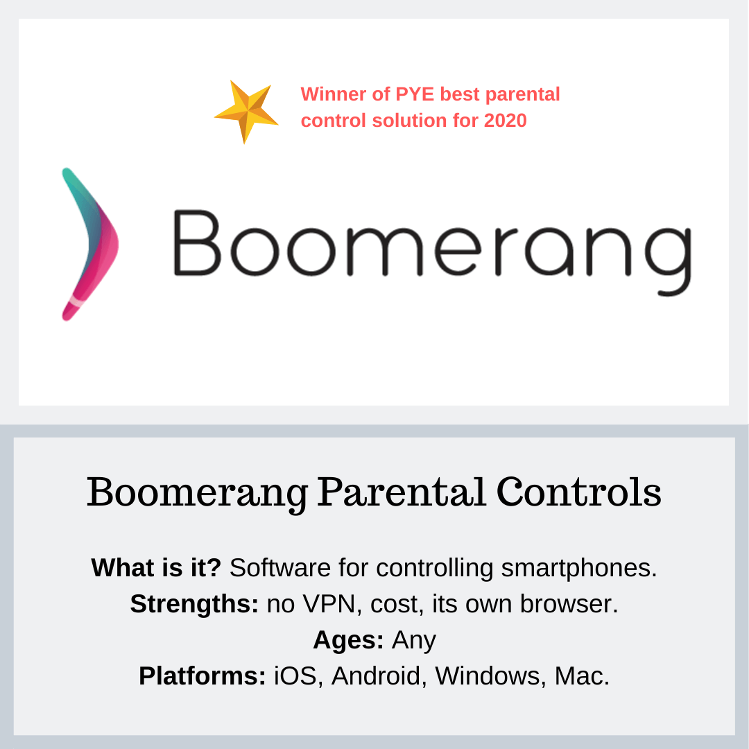 Boomerang Parental Controls - PYE Resources