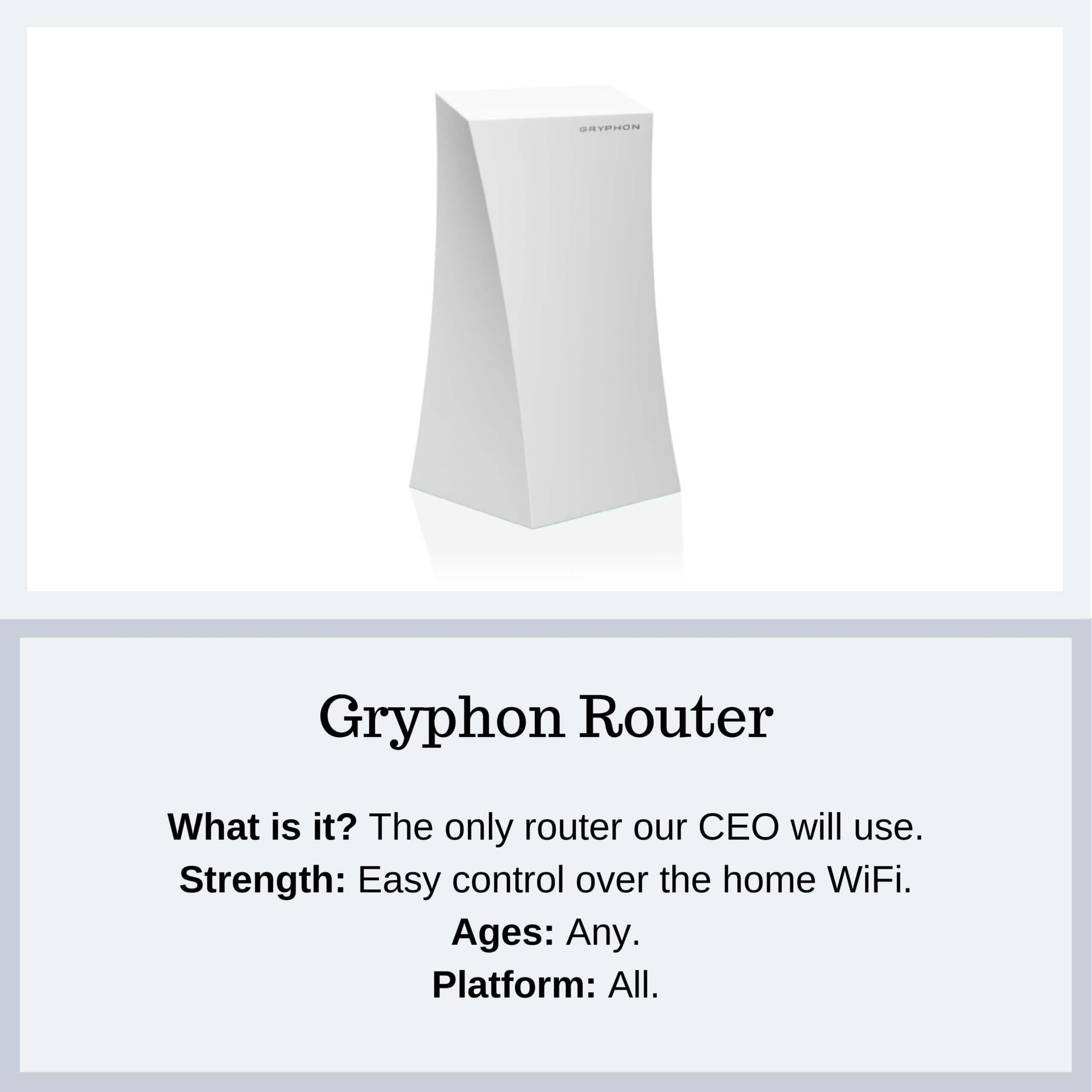 Gryphon Router - PYE