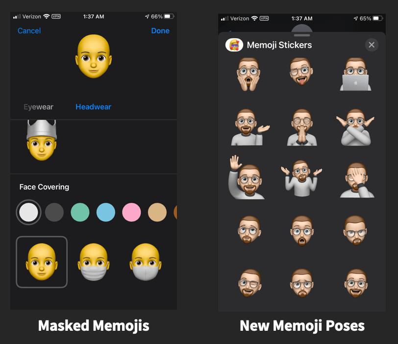 iOS 14 Memojis (10.18.20)