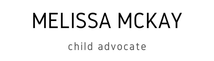 Melissa McKay, Child Advocate