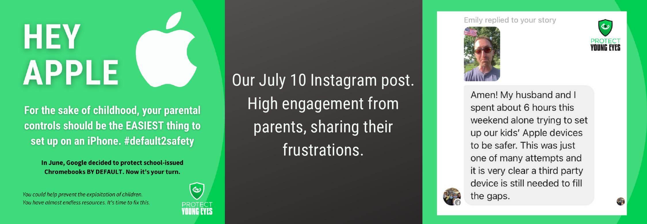 Screen Time Apple Parental Controls Campaign - Instagram Post